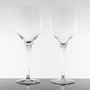 NILS LANDBERG, 12 NILS LANDBERG 'Illusion' claret glasses from Orrefors.