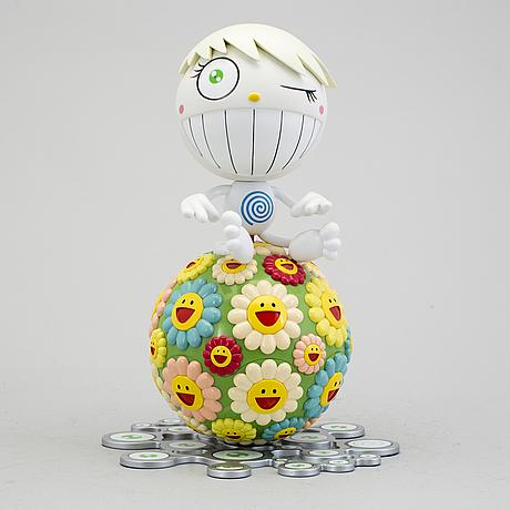 "Takashi murakami, ""mister wink, cosmos ball"", 2000. mixed media, polychrome plastic and minidisc."