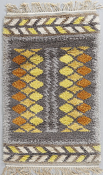 A rya rug from the second half of the 20th century, 125 x 76 cm.