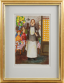 LENNART JIRLOW, LENNART JIRLOW, a signed litography, numbered 241/285.