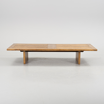 A solid wooden table, about 2000.
