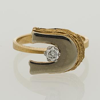 LAPPONIA, A RING, brilliant cut diamond, 18K gold. Lapponia 1976.