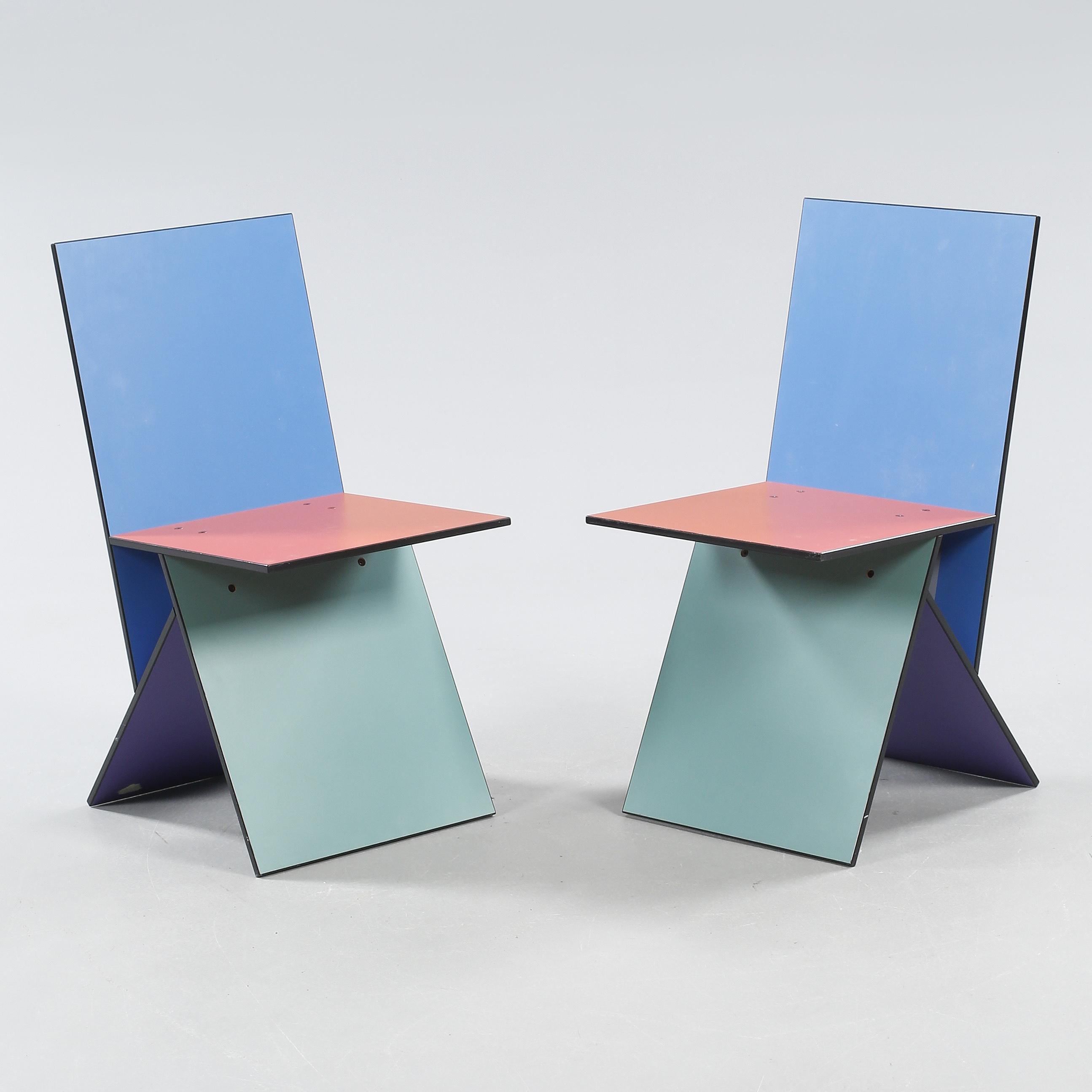 verner panton ett par stolar vilbert ikea 1993 94 bukowskis. Black Bedroom Furniture Sets. Home Design Ideas