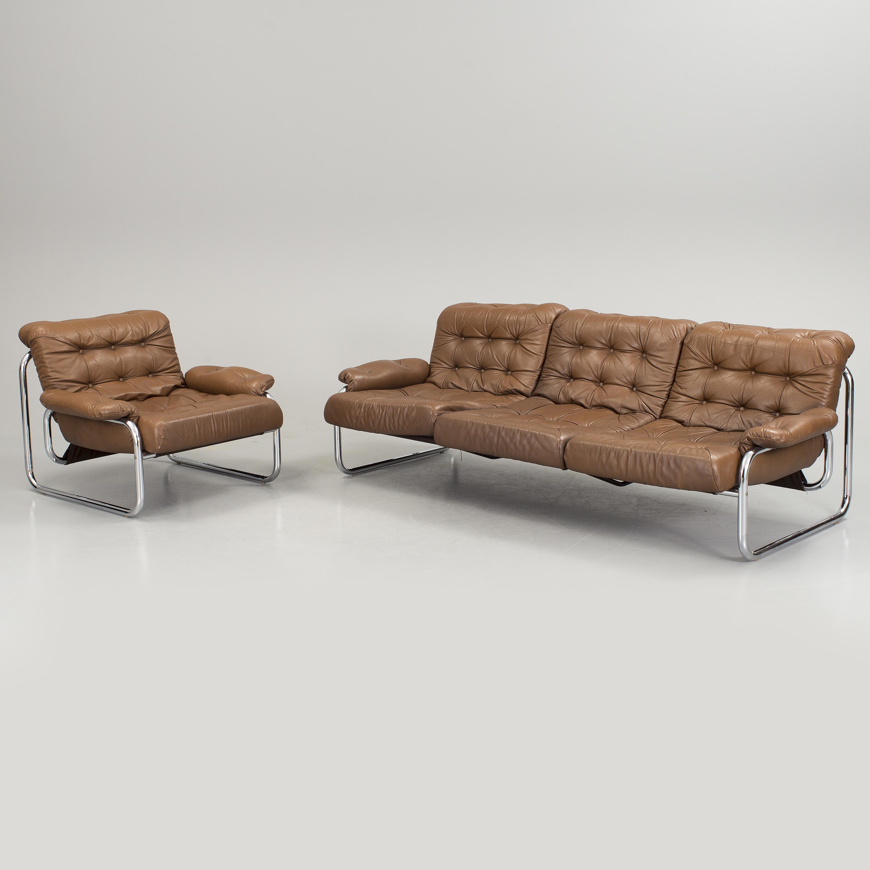 """john bertil hÄggstrÖm, ikea, fåtölj och soffa """"borkum"""", 1970-tal"""
