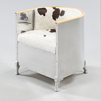"""A arm chair by Mats Theselius, model """"Aluminium Chair"""", numbered 16/33, Källemo, 2005."""
