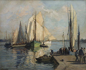 HENRI ALPHONSE BARNOIN, HENRI ALPHONSE BARNOIN, oil on canvas, signed.