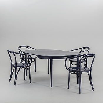 "IKEA, FOUR ""ÖGLAN"" CHAIRS AND A TABLE, IKEA 1970´s."