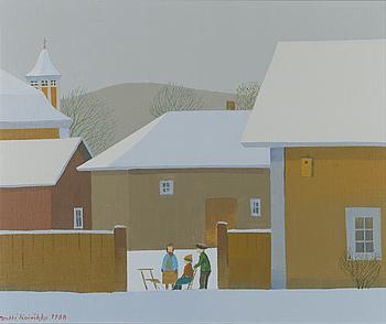PENTTI KOIVIKKO, PENTTI KOIVIKKO, oil on canvas, signed and dated 1988, a tergo marked Naantali -88.