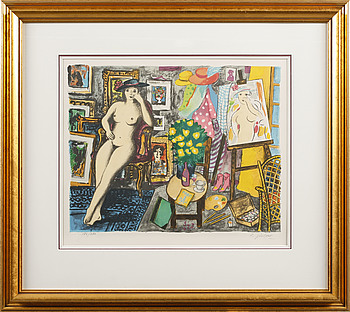 LENNART JIRLOW, LENNART JIRLOW, a litograph in color, signed and numbered 186/280.