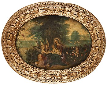 DUTCH SCHOOL 17th century, oil on copper. Not signed.