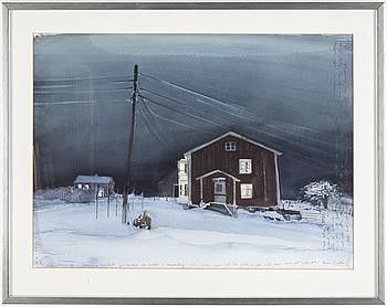 LARS LERIN, akvarell på papper, signerad Lars Lerin och daterad -84.