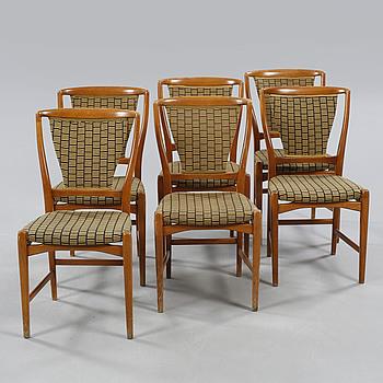 Six chairs, AB Westbergs Möbelfabrik, Tranås, 1950/60s.