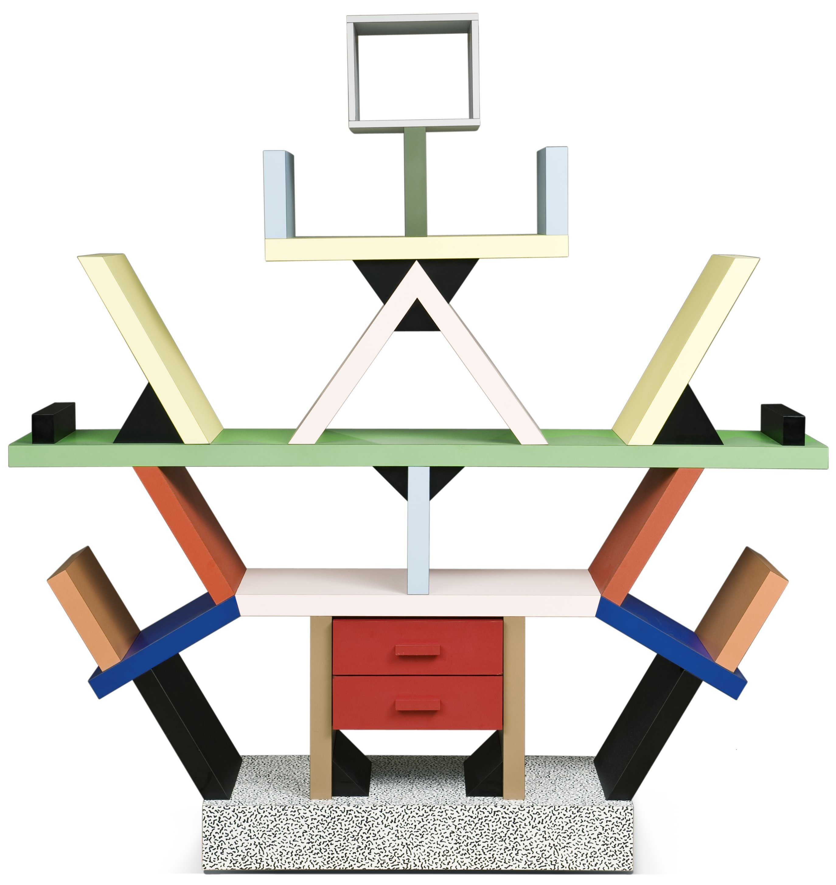An ettore sottsass bookcase carlton by memphis italy for Memphis sottsass