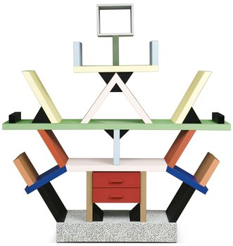 "810. An Ettore Sottsass bookcase ""Carlton"" by Memphis, Italy, 1980's."