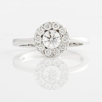 A 0.64 cts brilliant cut diamond ring.