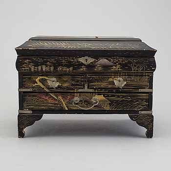a early 20h Century Chinese wooden box.