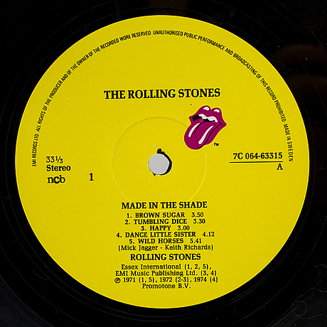 Vinylskiva Lp Rolling Stones Quot Made In The Shade Quot 1975