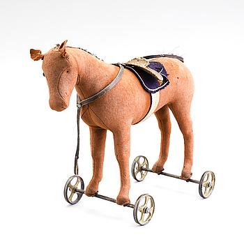 STEIFF, sannolikt, häst på hjul, 1910-tal.