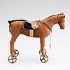 Steiff, sannolikt, häst på hjul, 1910 tal