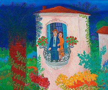 98. Lennart Jirlow, På balkongen.