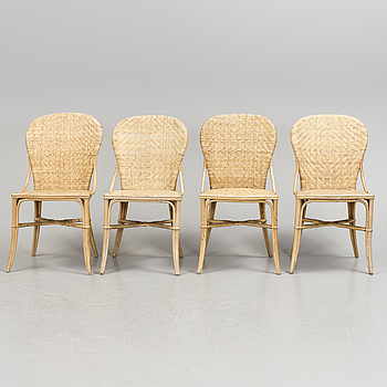 4 chairs, second half of the 20th century.