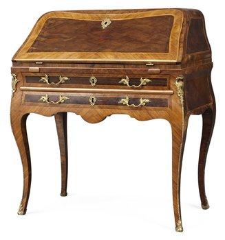 782. A Swedish Rococo secretaire.