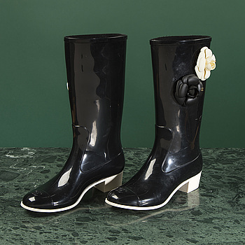 RUBBER BOOTS, CHANEL, size 38.