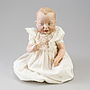 A bisque head character baby doll nr 100 by kämmer & reinhardt, germany, 1909.