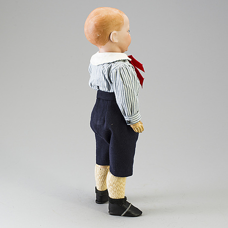 A bisque head character doll marked 226, probably france, 1910s.