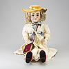 "A bisque head doll ""walküre"", germany, ca 1920."