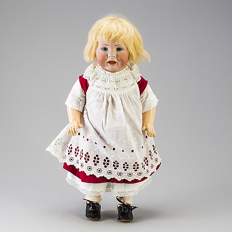 A bisque head character doll 116 by kämmer & reinhardt, germany, 1911.