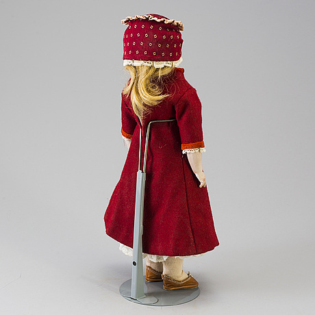A bisque head doll, possibly france, late 19th century.