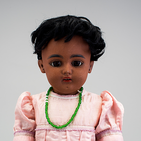 A bisque headed doll by franz schmidt, germany, ca 1900