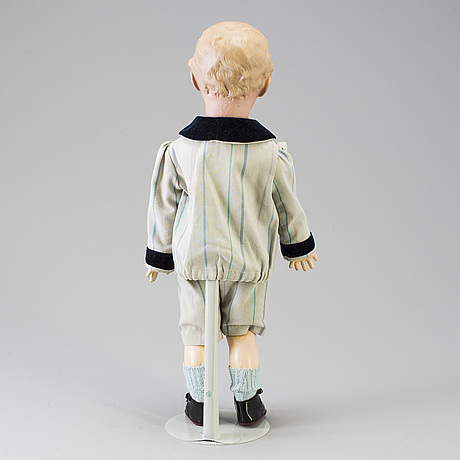 A bisque headed boy doll 7622 by heubach, germany, ca 1912.