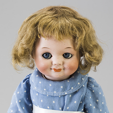 A bisque headed doll 323 by armand marseille, germany, 1914 1925