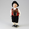 A bisque headed boy doll by heubach, germany, 1910s.