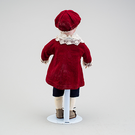 A bisque headed character boy doll, germany, 1910s