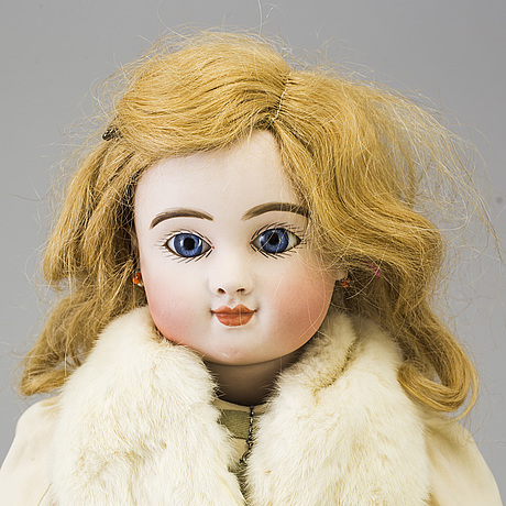 A bisque head doll by jules steiner, paris, france, late 19th century.