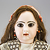 A tete jumeau bisque headed doll, france, late 19th century.