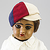 A bisque head doll marked e.d depoussé, france, early 20th century.
