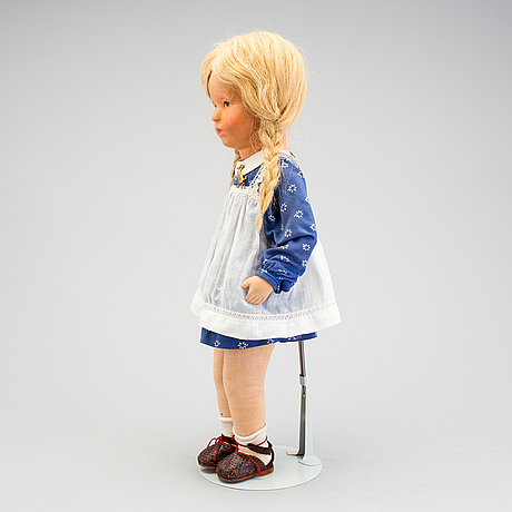 A käthe kruse girl doll, germany, 1930/40s.