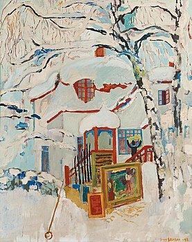 "27. Sven X:et Erixson, ""Vinter vid målarens hus""."