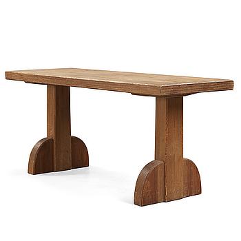 An Axel Einar Hjorth stained pine table 'Sandhamn', Nordiska Kompaniet Sweden 1932.