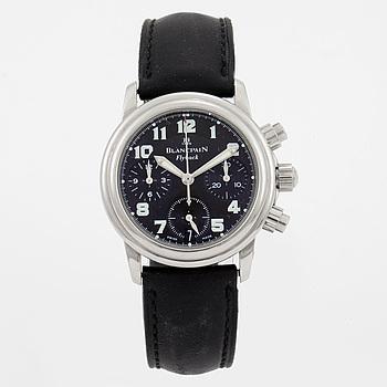 BLANCPAIN, Lémans Flyback, kronograf, armbandsur, 33 mm,
