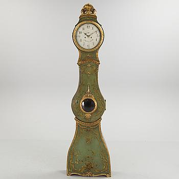 A 18th century grandfather clock.
