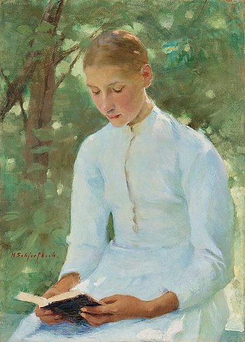 """Helene schjerfbeck, """"before confirmation""""."""