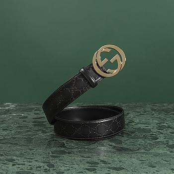 A belt by Gucci.