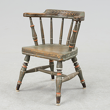 A childrens chair from the second half of the 19th century.