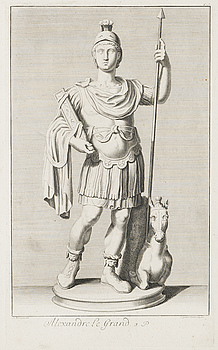 COPPER PLATE ENGRAVING, Alexander the Great, J. Gottlieb Thelot, after A. Wernerin, 18th century.