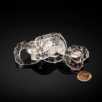 291. KEDJA/OBJEKT, bergkristall. Qingdynastin (1644-1912).